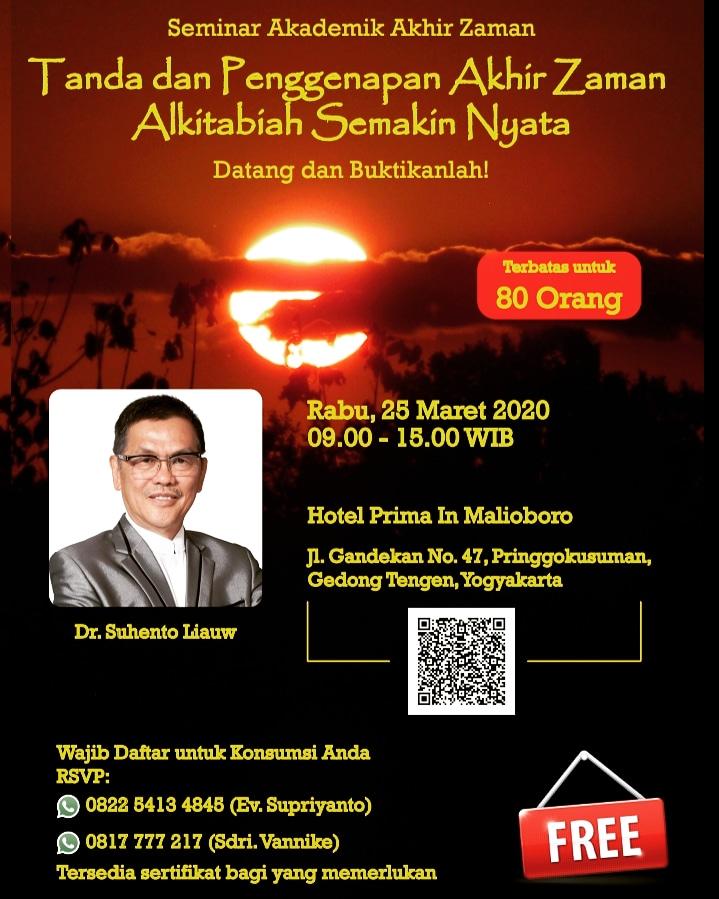 seminar Akademik Akhir Zaman - Reschedule Pada 31 Juli 2020